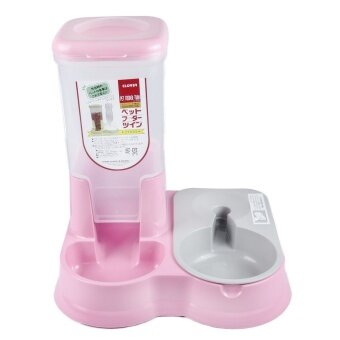 Clover Auto Twin Pet Food and Water Feeder Fountain Bowl Dish Dispenser Food