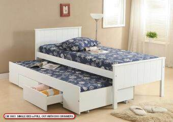 CM1003 SINGLE PULL OUT BED WITH DRAWER