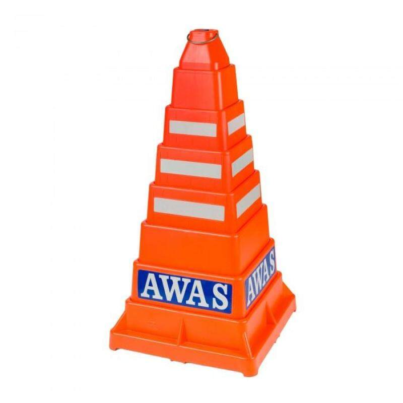 Buy Collapsible Pe Traffic Safety Cone  (Orange) Malaysia