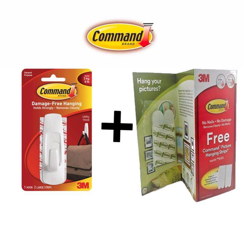 Command Large Utility Hook FREE Picture Hanging Strips