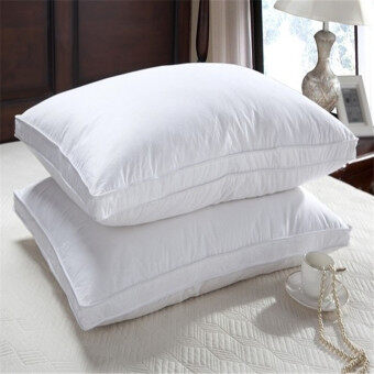 Counter cotton rectangular feather core genuine 95 White goose down pillow core one pair of pillow neck pillow five-star hotel