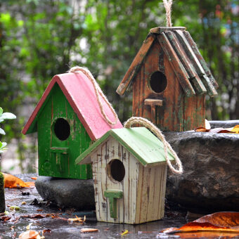 Country Small House wood nest bird house