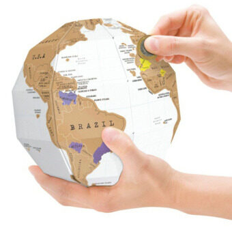 Harga Creative Globe 3D DIY World Map Deluxe Scratch Map