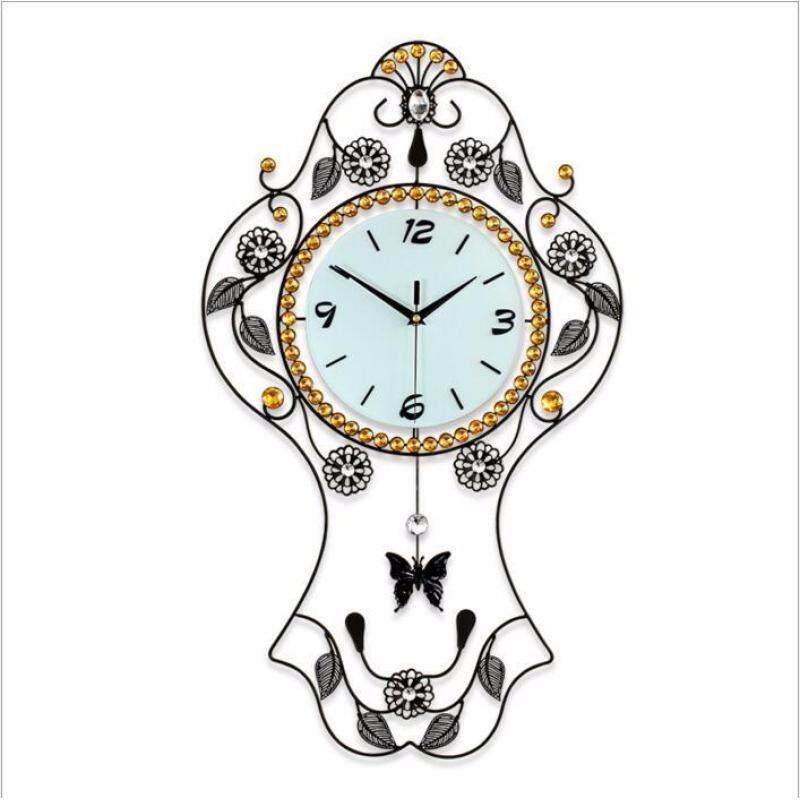 Buy Creative swing wall Clock fashion living room European personality mute quartz clock Malaysia