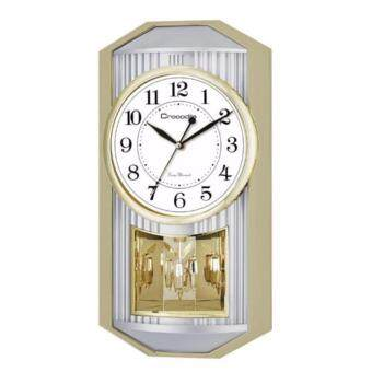 Harga Crocodile Japan sweep seconds movement(Silent mode) RotatingPendulum Striking melody standard wall clock *48 x 25 x 8.8 cmmodel CPS6209