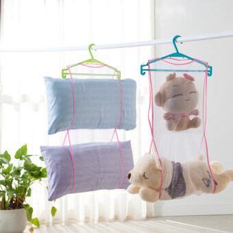 Harga Cushion pillow drying rack pillow drying washing net bag mesh bagmulti drying racks wardrobe storage bag
