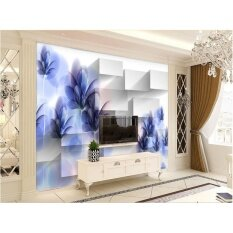 Buy Customized 3d Wall Murals Wallpaper Transparent Purple Painted