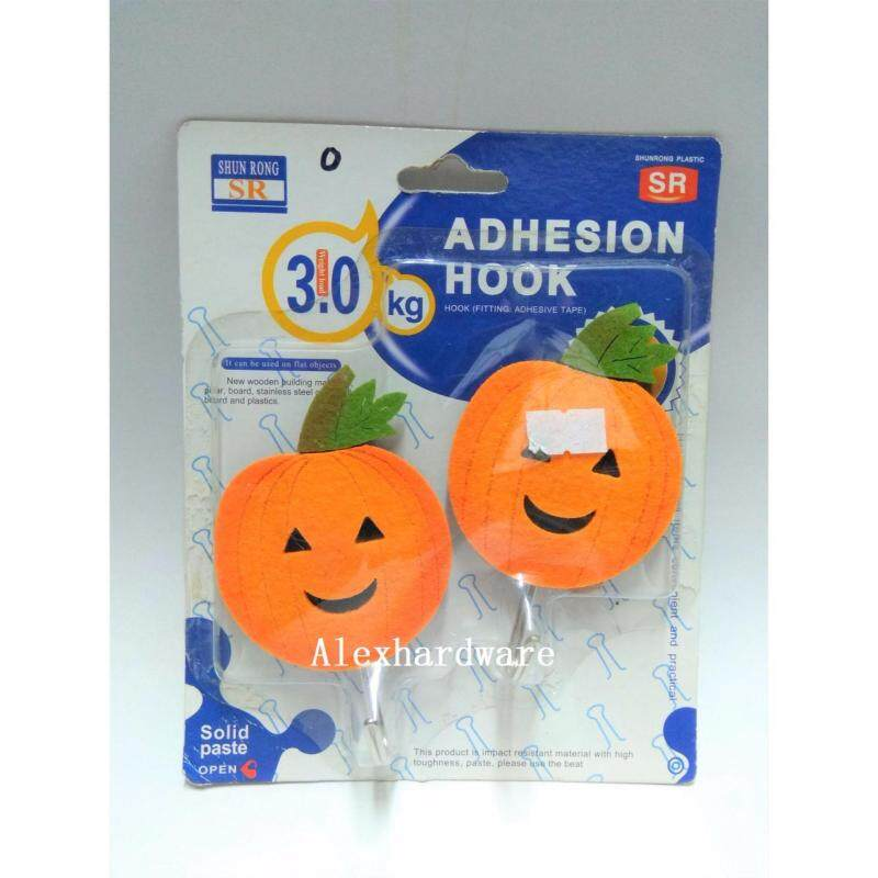 CUTE CLOTH HOOK, 2-piece-pack (included Double-sided tape) - PUMPKIN