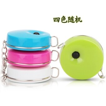 Deli tape measure soft feet the amount of measurements tape measuremini amount of clothing foot leather tape measure portable ruler1.5 m with key Buckle