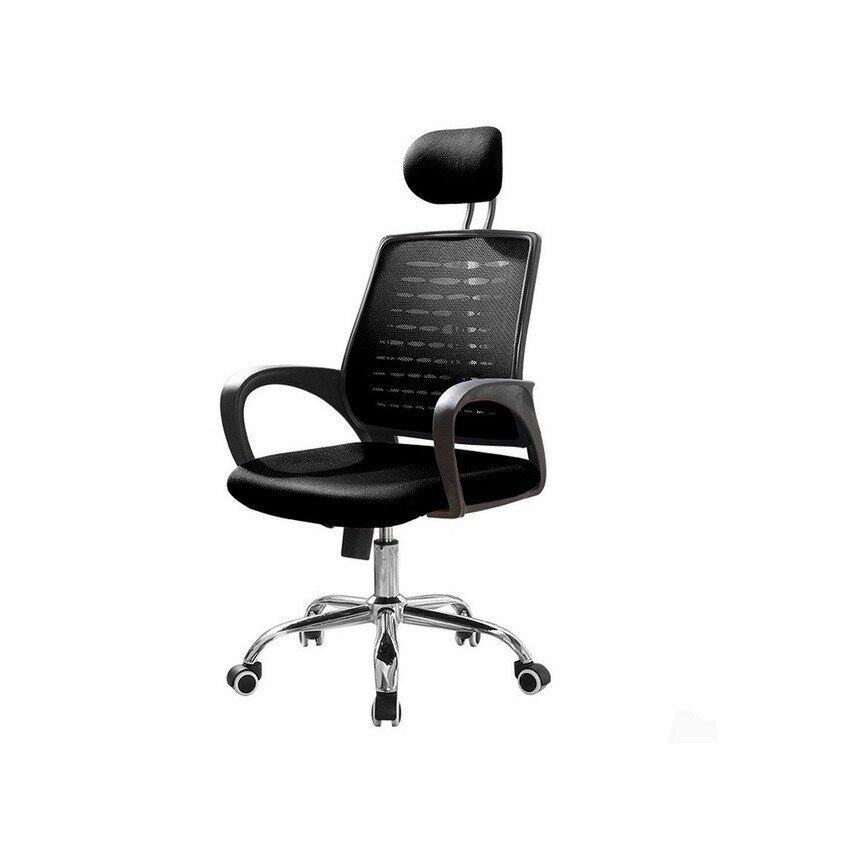 deluxe high back mesh swivel office chair (black) | lazada malaysia
