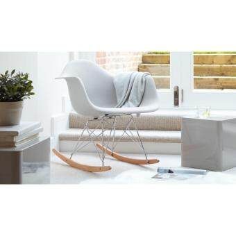 Latest Fabulous Elegant Designer Eames Rar Plastic Rocking Chairlounge White With Chaise