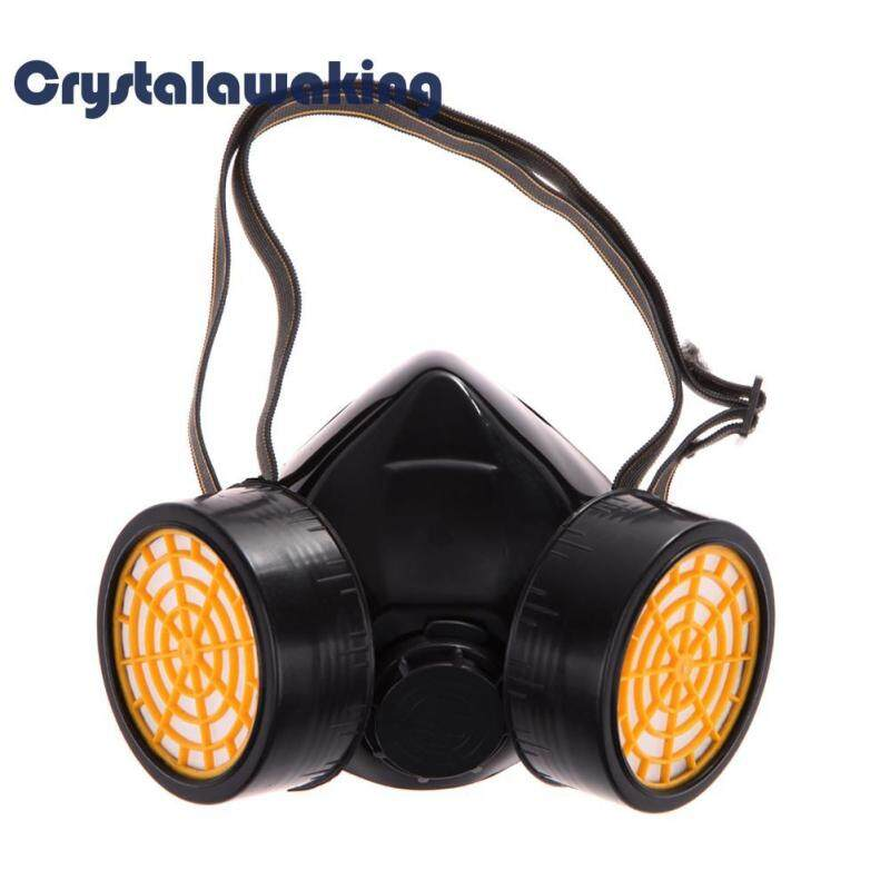Buy Dual Gas Filter Anti Dust Paint Respirator Mask Goggles Industrial Safety Malaysia