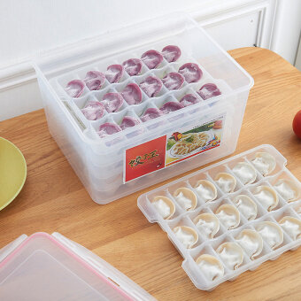 Harga Dumplings box refrigerator fresh storage box frozen dumplings donot stick storage box can microwave to thaw box points griddumplings Tray