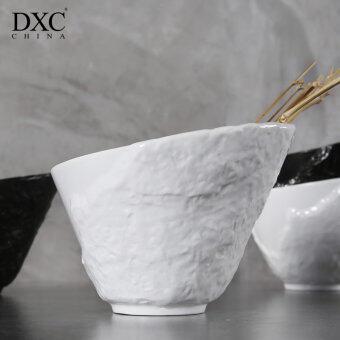 Dxc creative japanese style ceramic soup bowl pot personalized home minimalist large bowls sauce bowl