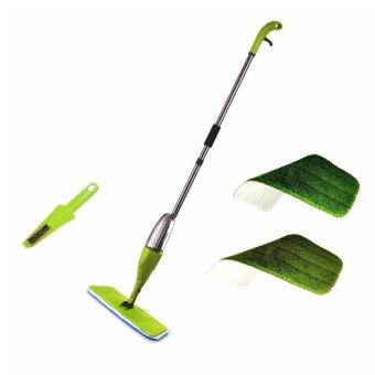 Easy Spray Mop with 2 Microfiber refill Pads Green