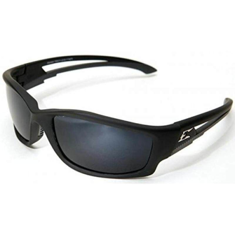 Edge Eyewear Kazbek Polarized-Black / G-15 Silver Mirror Lens with Gasket
