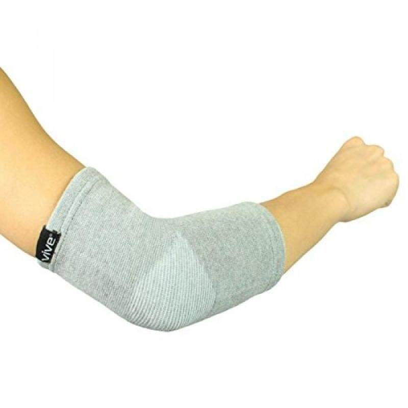 Buy Elbow Sleeve by Vive (Pair) - Bamboo Charcoal Compression Elbow Support for Tendonitis, Golfers & Tennis Elbow - Men & Women (Small / Medium) Malaysia