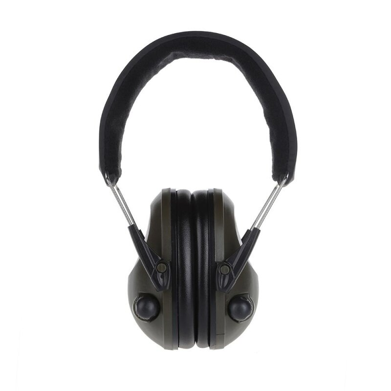 Electronic Hearing Protector Noise Canceling Ear Muffs (Olive Green)
