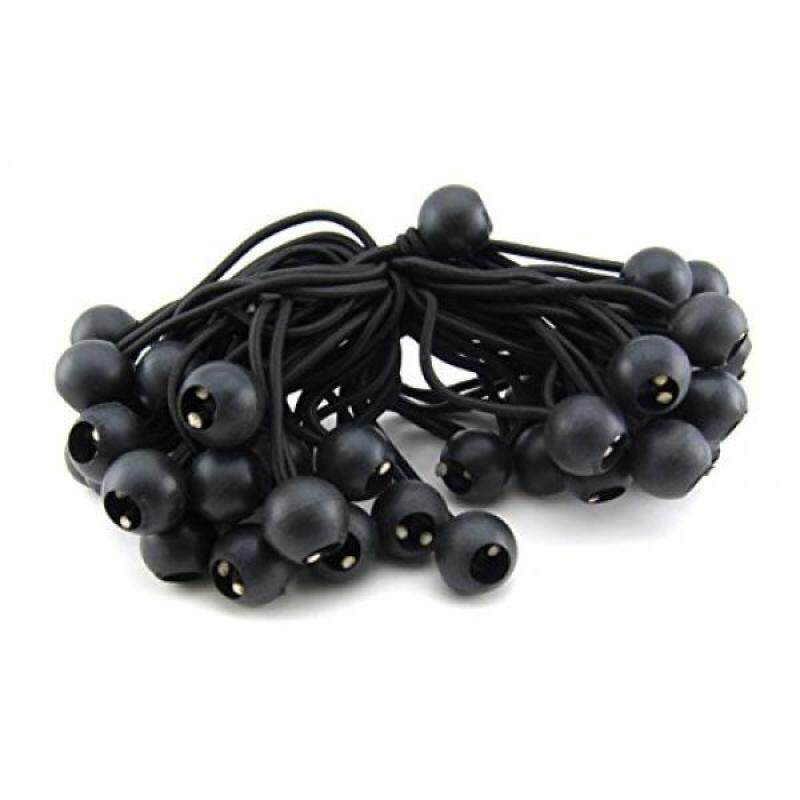 "Buy Elitexion 100pcs 6"" Bungee Ball Tarp Tie Down Cord - Black Color Malaysia"