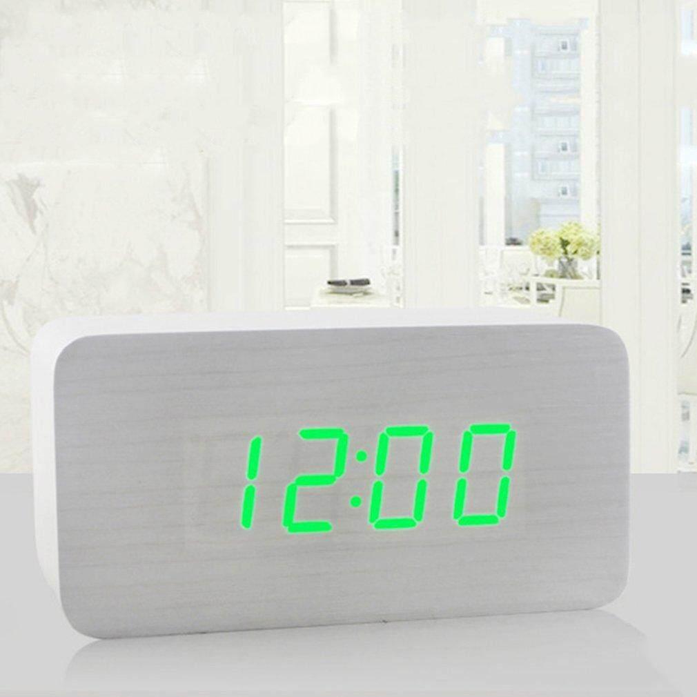 Beautiy Kota Era LED LED Jam Jam Alarm Elektronik Kontrol Suara Digital Jam Desktop-Internasional