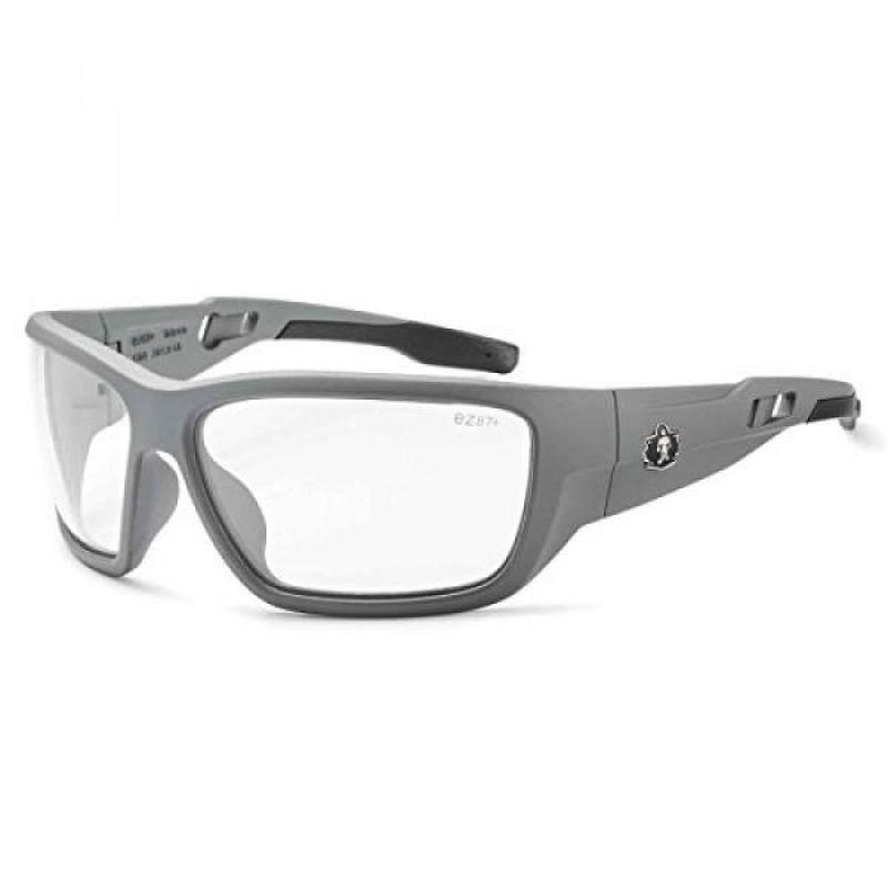 Ergodyne Skullerz Baldr Safety Glasses-Matte Gray Frame, Clear Lens