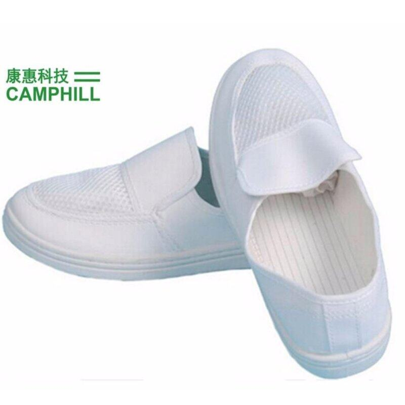Buy ESD PVC Anti-static Cleanroom Mesh Industrial Shoe White Size:265/43 Malaysia
