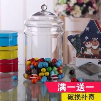 European transparent glass candy jar with lid glass storage jar soft dress glass bottle decorative wedding dessert tank Ornaments