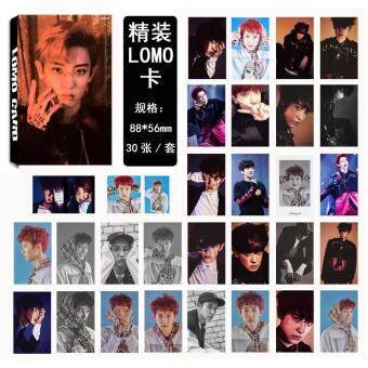 Harga EXO EX'ACT CHANYEOL Album Kpop LOMO Cards New Fashion Self MadePaper Photo Card HD Photocard LK406