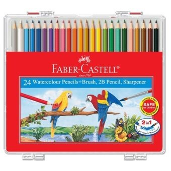 Harga Faber-Castell 114564 Water Colour Pencil Wonder Box (24 Colors)