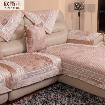 Fabric European Sofa Cushion Leather Sofa Towel