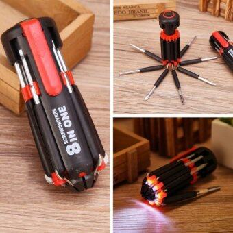 Harga F&F: 8 in 1 Professional Tools Multi - Mini Screwdriver Setwith 6 LED Torch