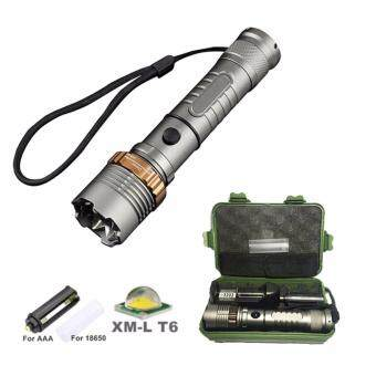 Harga FFY 3800 Lumens CREE XM-L T6 5 Modes LED Tactical Flashlight TorchWaterproof Lamp Torch Hunting Flash Light Lantern For Camping +USCharger +Protective Case