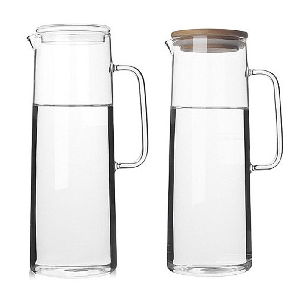 fisca l glass water carafe water jug with lids  lazada malaysia -