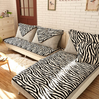Flannel sofa cushion minimalist modern nonslip four seasonsgeneral combination of fabric living room leather sofa cushiontowel & Taobao modern cover cushion leather cushion cover Popular modern ... pillowsntoast.com
