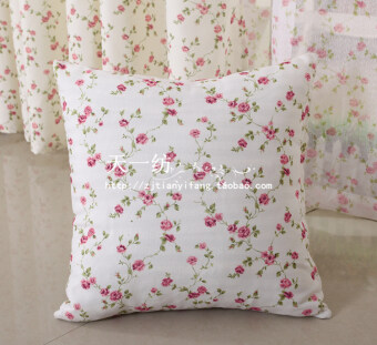 Floral pastoral bedside chair backrest pillow