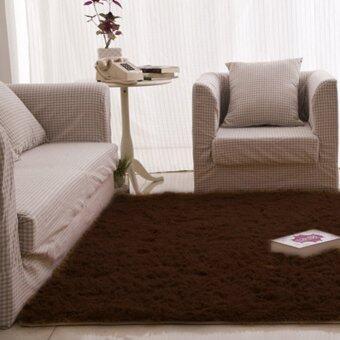 Fluffy Rugs Anti-Skid Shaggy Area Rug Dining Carpet Floor MatCoffee - Intl