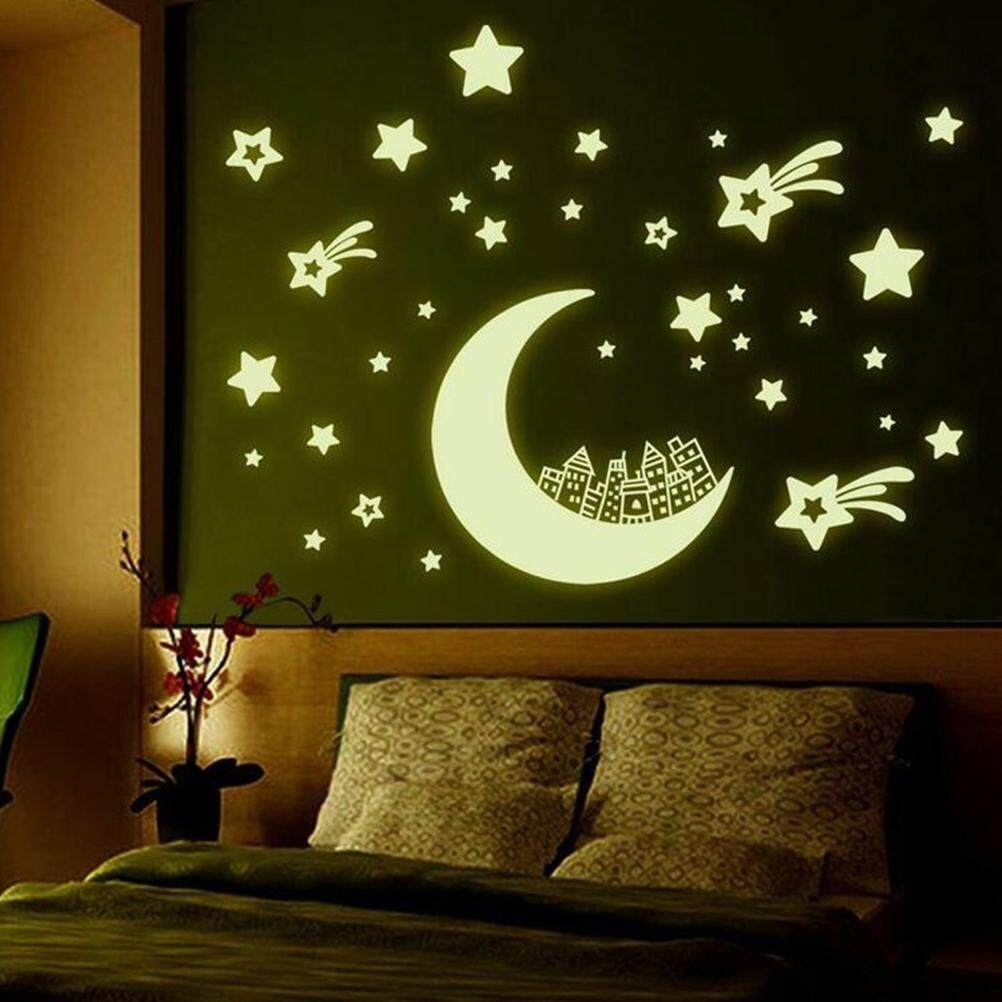 Fluorescent Stickers Glow In The Dark Star Moon Luminous Wall Decal |  Lazada Malaysia Part 33