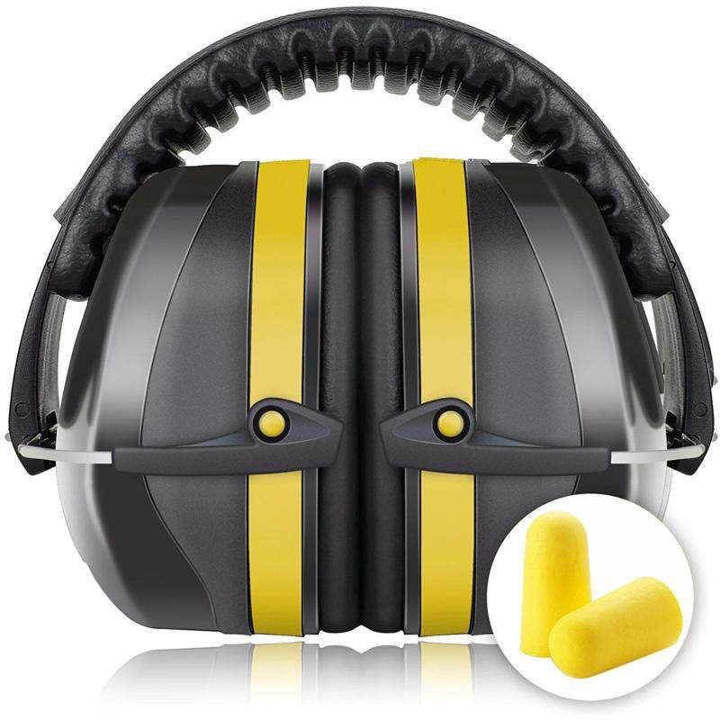 Buy Fnova 34dB Highest NRR Safety Ear Muffs - Professional Ear Defenders for Shooting, Adjustable Headband Ear Protection / Shooting Hearing Protector Earmuffs Fits Adults to Kids (Yellow) Malaysia