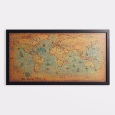 Home wall dcor buy home wall dcor at best price in malaysia frambie vintage world map framed world map print large format 100cm x 51cm gumiabroncs Gallery