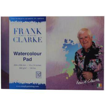 Harga Frank Clarke Watercolour Pad 300g/m (254x356mm) 10x14 inches A4Size 10 Sheets
