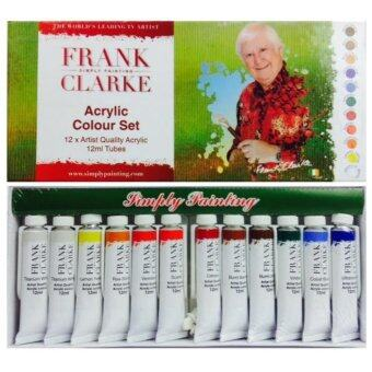 Harga Frank Simply Painting Clarke Acrylic Colour Set (12ml x 12col)