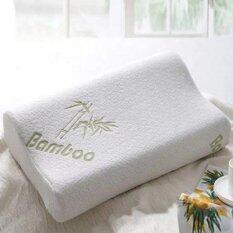 freemarket 30x50 sleep bamboo fiber slow rebound memory foam pillow cervical health care head neck support