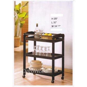 Fully Solid Wood Kitchen Trolley With Rollers/Food Trolley/Bowl Rack/Cup Rack/Cutlery Rack/Plate Rack/Metal Rack/Kitchen Rack/Sink Rack/Cooking Rack/Plate Rack/Clothes Rack/Rak Baju/Rak Dapur/Rak Masak L790MM X W370MM X H630MM