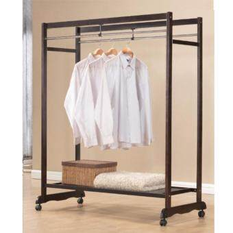 Harga Furniture Direct 1516 wooden garment rack with optional shelf