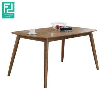 Harga Furniture Direct BERLIN solid rubberwood top dining table
