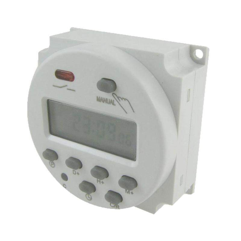 Buy gaoshang DC 12V Digital LCD Power Programmable Light Timer Time Switch Relay(White) Malaysia