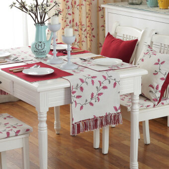Garden Flowers Restaurant Table Flag Dining Tablecloth Decorative Living Room Coffee TV Cabinet