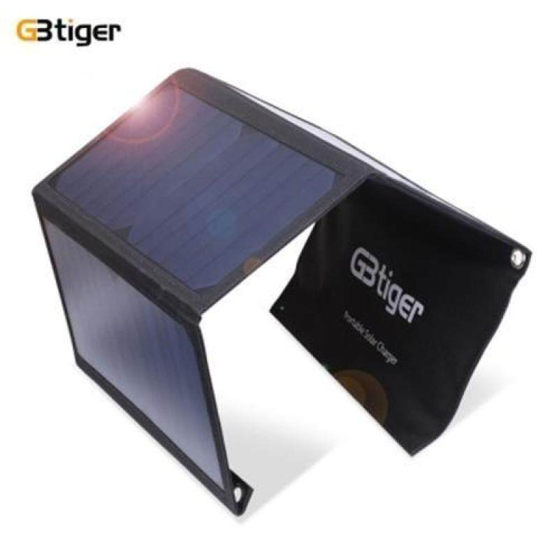 GBTIGER 21W DUAL USB SUNPOWER PANEL POWER EMERGENCY BAG (BLACK)