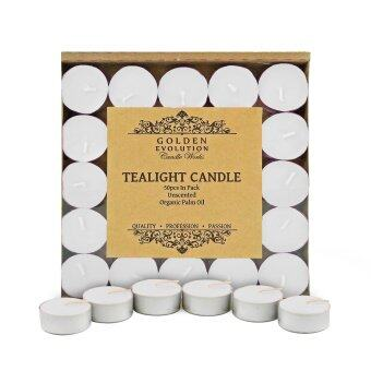 Harga GE Candle Works 50 PCS Unscented Palm Tealight Candle (White)