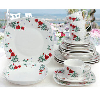 Harga Giacomo Rossie 20pcs translucent porcelain dinner set